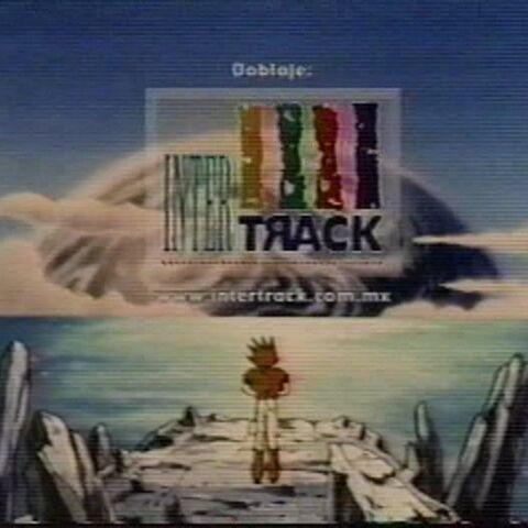 Crédito del doblaje realizado en Intertrack (con su dirección web) en el ending.