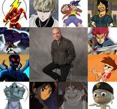 Jhonny y algunos de sus personajes