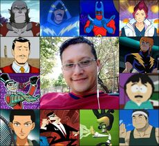 Ledner y algunos de sus personajes