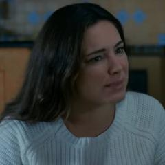 Laura en la película de terror <a href=