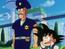 Policia que ayuda a Goku