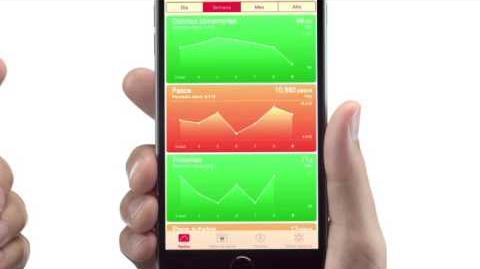 Comercial iPhone 6 en Chile, salud