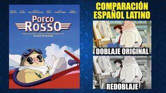 Porco Rosso -1992- Doblaje Original y Redoblaje - Español Latino - Comparación y Muestra