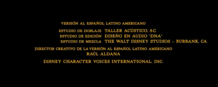 El libro de la selva (2016) Doblaje Latino Creditos 4