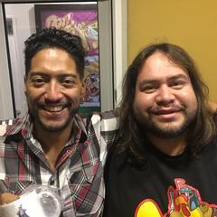 Ricardo Méndez junto a Óscar Flores
