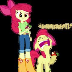 Applebloom en la saga My Little Pony: La magia de la amistad y Equestria Girls