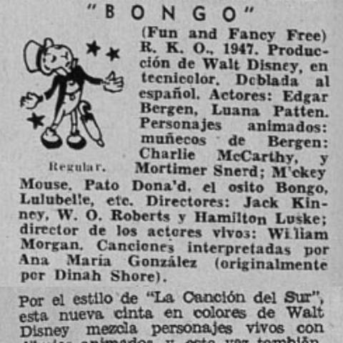 Control de estrenos. Revista Ecran 1948.