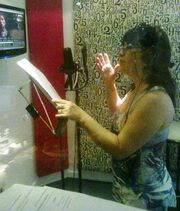 Carmen Fatima grabando en Mandinga