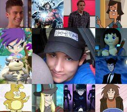 Eder y algunos de sus personajes