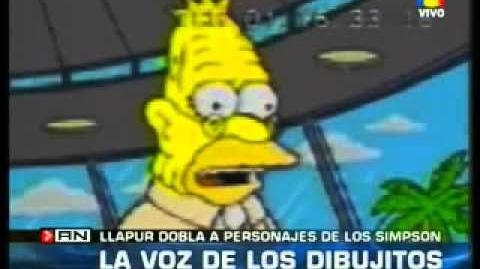 La voz de Krusty es Argentina Doblaje Latino