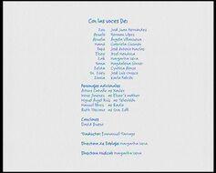 Créditos de doblaje de Zou (TV) (DJR)