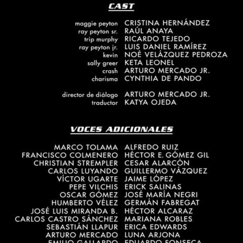 Créditos de Doblaje (Netflix)