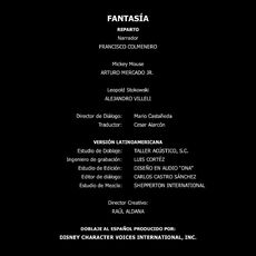 Doblaje Latino Fantasia Creditos 2010 Blu-Ray