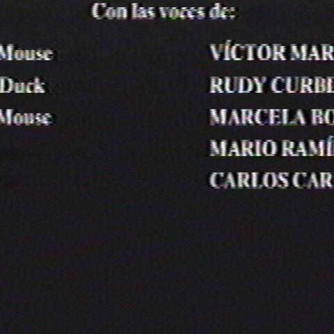 Créditos de doblaje del VHS