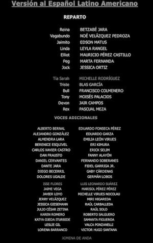 LaDamaYElVagabundo Créditos1