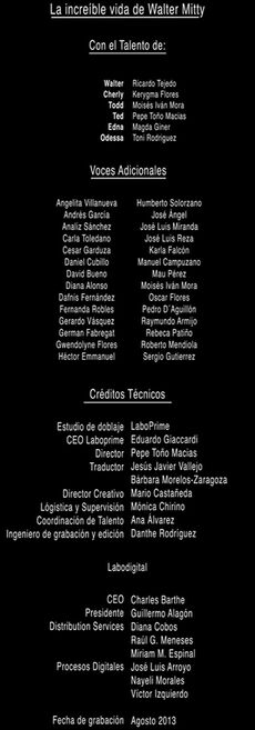 Doblaje Latino de La Increíble Vida de Walter Mitty