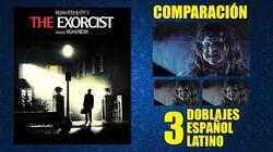El Exorcista -1973- Doblaje Original y 2 Redoblajes - Español Latino - Comparación y Muestra