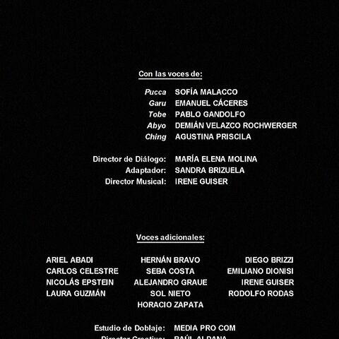 Créditos de doblaje de la primera temporada