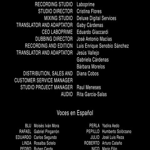 Créditos del DVD y Blu-ray 2D/3D