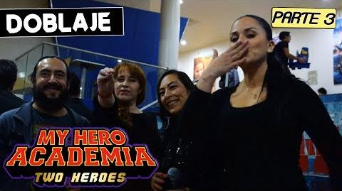 MY HERO ACADEMIA TWO HEROES LATINO Parte 3 Entrevista al elenco My Hero Academia Two Heroes