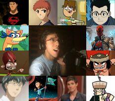 Paolo y algunos de sus personajes