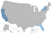 Mapa de doblajes al español en Estados Unidos