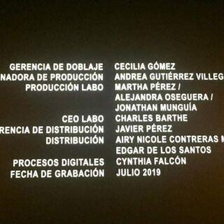 Créditos del Cine (2 de 5).