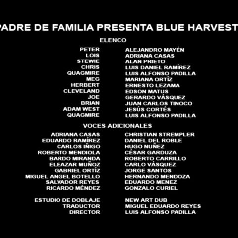 Créditos del DVD