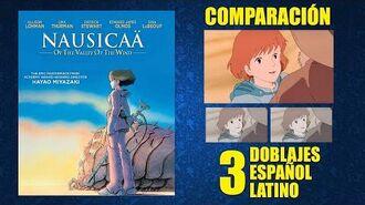 Nausicaä- Guerreros del Viento -1984- Doblaje Original y 2 Redoblajes - Español Latino - Comparación
