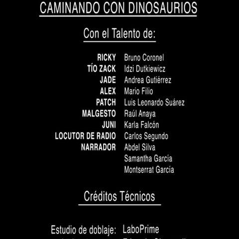 Créditos del DVD (doblaje mexicano)