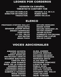 Doblaje Latino de Leones por Corderos