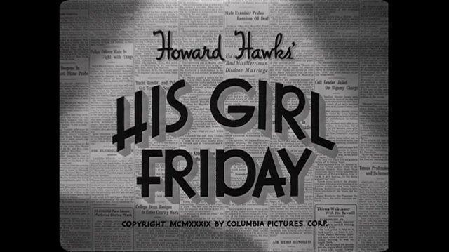 His Girl Friday (1940) La mejor periodista (Español Latino)