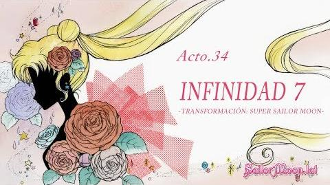 Sailor Moon Crystal ☾ Acto 34 Infinidad 7 -Transformación Super Sailor Moon- (Español Latino)