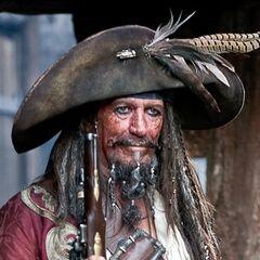 Capitán Teague Sparrow en dos películas de <a href=