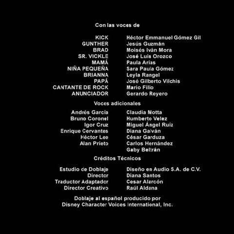 Créditos de doblaje<br />(1ra temporada)
