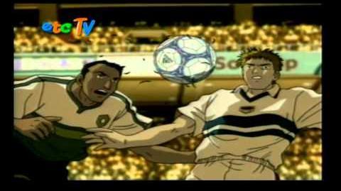 Captain Tsubasa (Los súper campeones) road to 2002 opening 1 Créditos Español Latino.