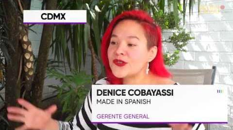 Denice Cobayassi de Made in spanish Realizando más de 120 horas mensuales en doblaje