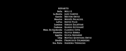 La Bella y la Bestia 2017 Latin Spanish Credits Netflix
