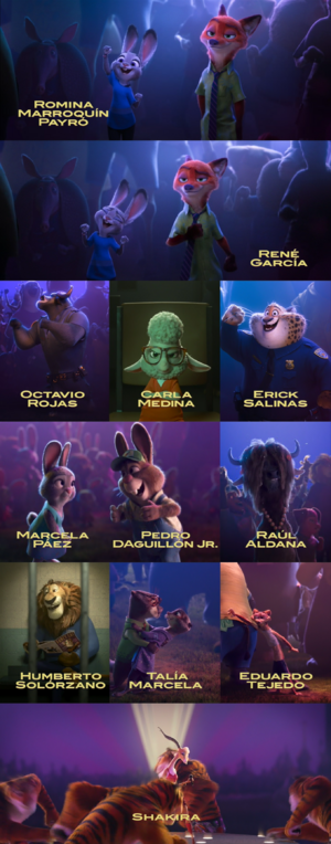 Zootopia voces