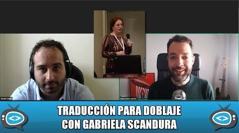 Doblaje de series juveniles con Gabriela Scandura