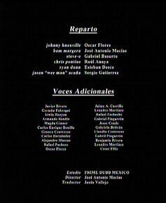 Créditos del doblaje mexicano de Jackass 2.5 (TV) (TBS)