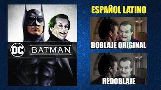 Batman 1989 - Doblaje Original y Redoblaje - Español Latino - Comparación y Muestra