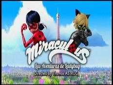 Logotipo en español de Miraculous Las aventuras de Ladybug