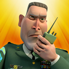 General Warren Monger en la serie animada <a href=