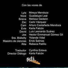 Créditos del episodio 20
