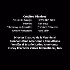 Créditos de doblaje del DVD (3 de 3).