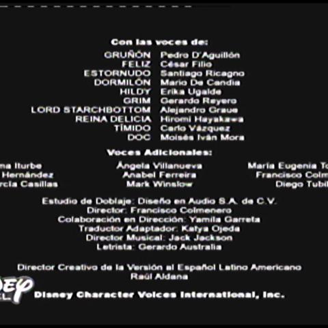 Créditos de doblaje de la segunda temporada.