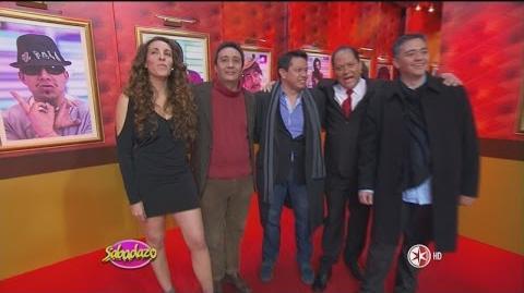 Presentación de Actores de Doblaje en Sabadazo 30 de Enero 2016
