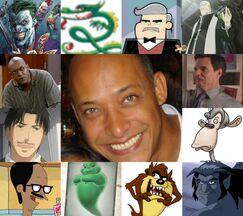 Rubén y algunos de sus personajes
