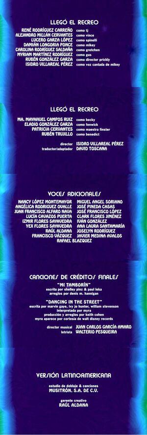 Créditos Recreo DVD